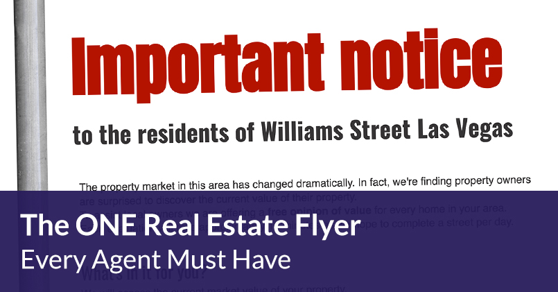 One Real Estate Flyer Every Agent Must Have
