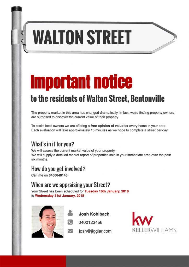 Real Estate Letterbox Drop Ideas Important Notice Street Flyer