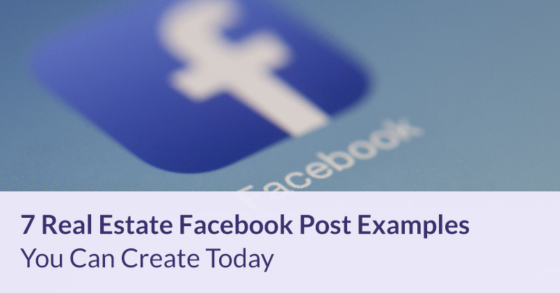 Real Estate Facebook Post Examples