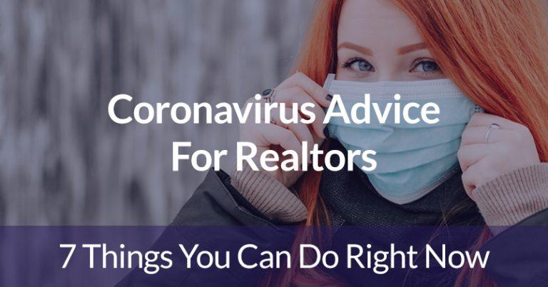 Coronavirus Advice For Realtors