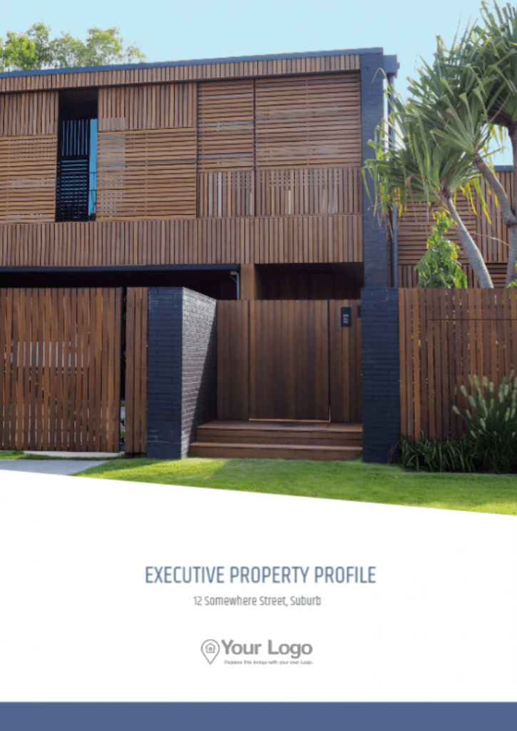 The Executive Property Profile template front page.