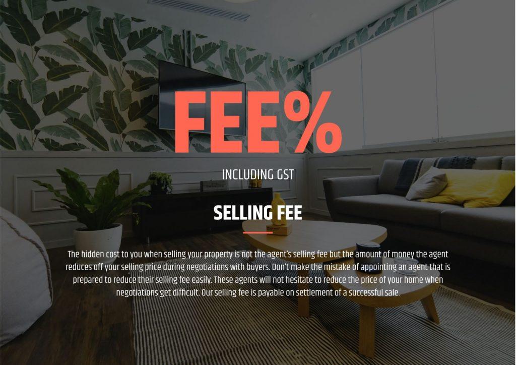 Listing presentation sample template - fees.