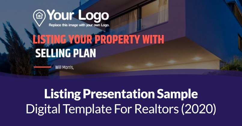 Digital Listing Presentation Sample Template for Realtors (2020 Version)