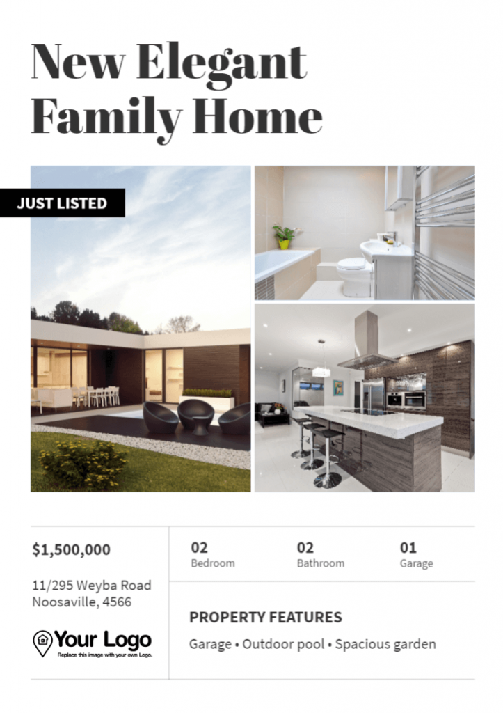The New Family Home template front page.