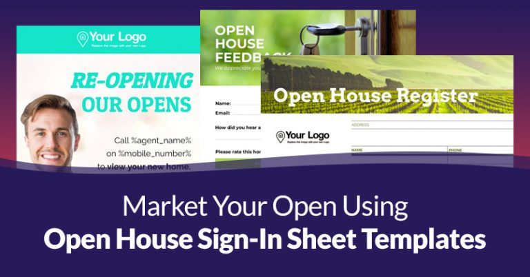 Open House Sign-in Sheet Templates