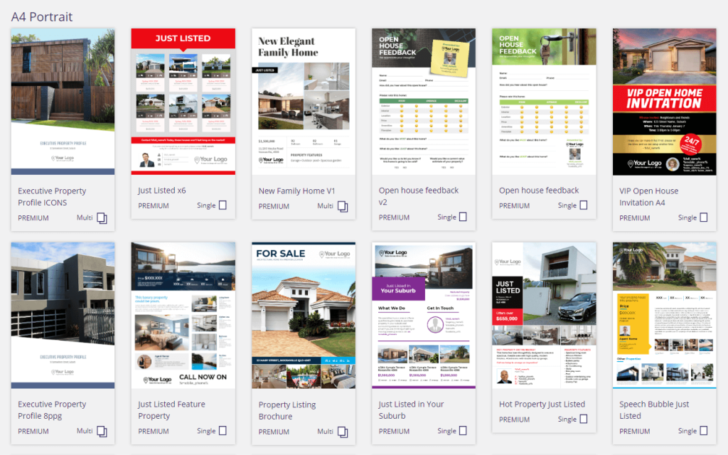 Examples of real estate brochure templates.