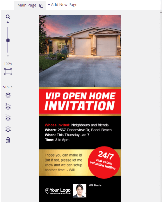 A VIP open house invitation.