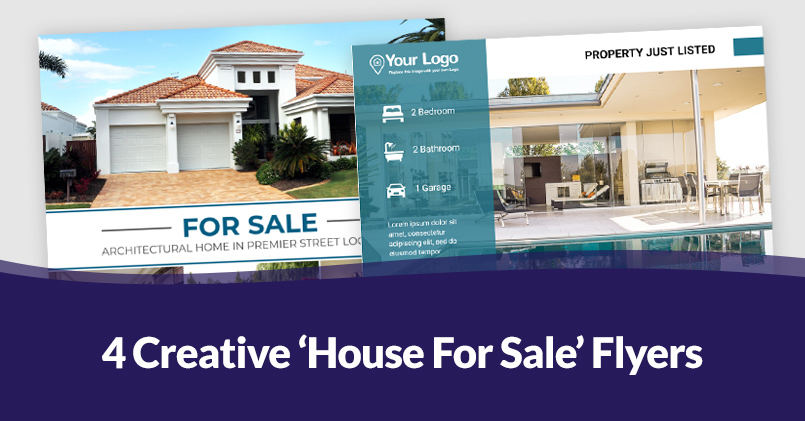 4 Creative 'House for Sale' Flyers