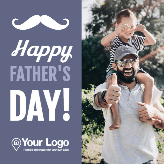 Happy father's day real estate design for Facebook