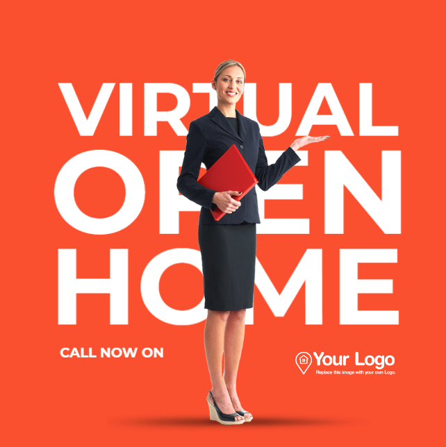 A template promoting virtual open homes.