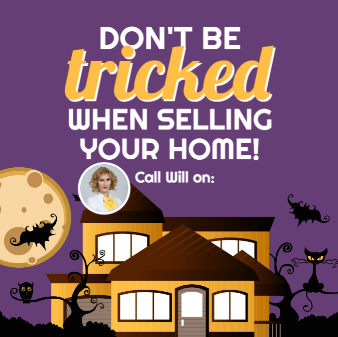 Halloween real estate ad template