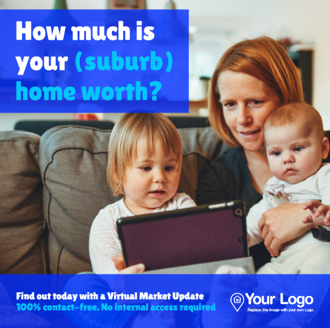 Digital home valuation ad