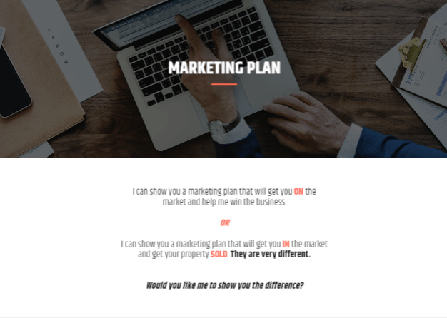 Your real estate marketing plan