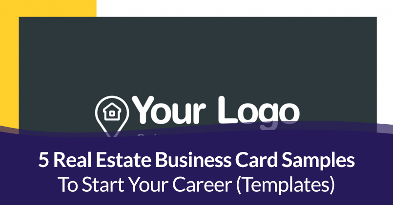 Real Estate Business Card Samples