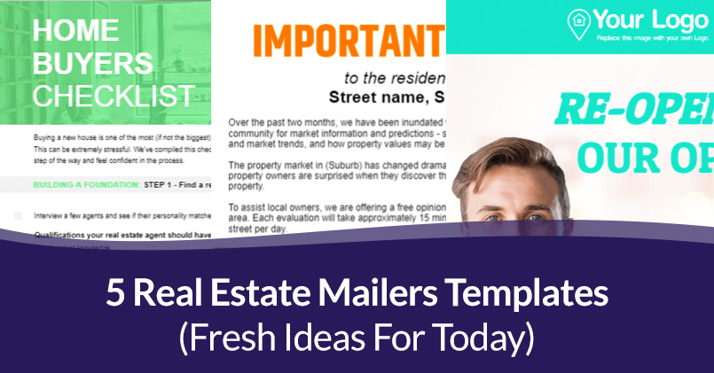 5 Real Estate Mailers Templates (Fresh Ideas For Today)