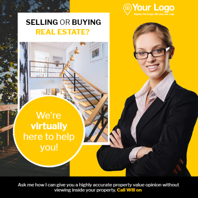 Selling or buying real estate digital ad