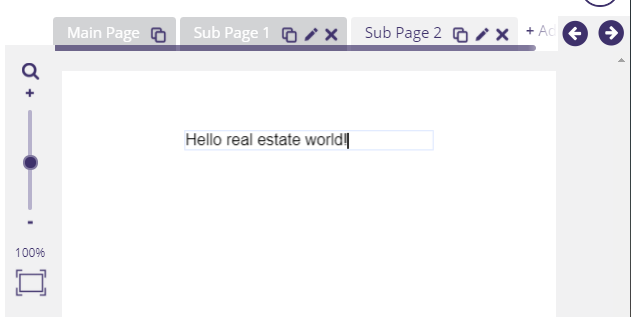 A blank real estate design page