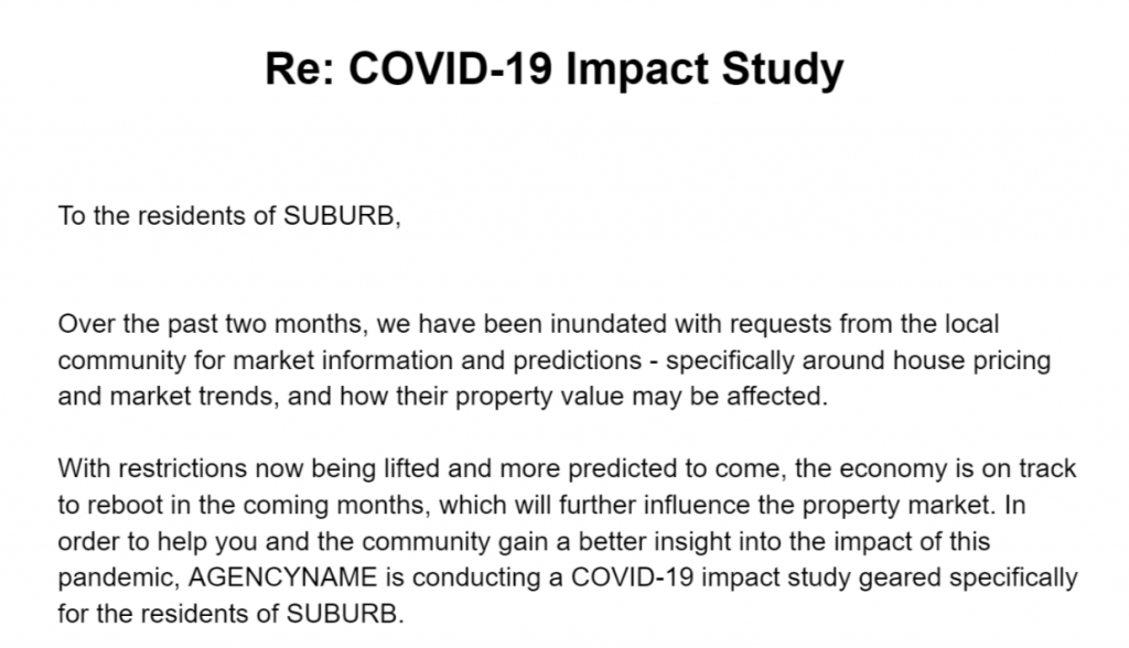 A COVID impact study on real estate.
