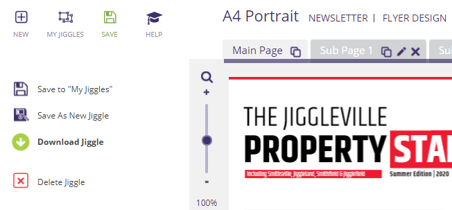 Downloading a Jigglar design