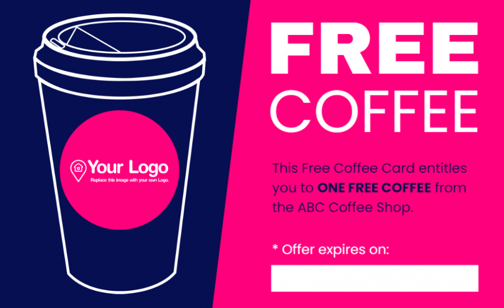 An offer for a free coffee.
