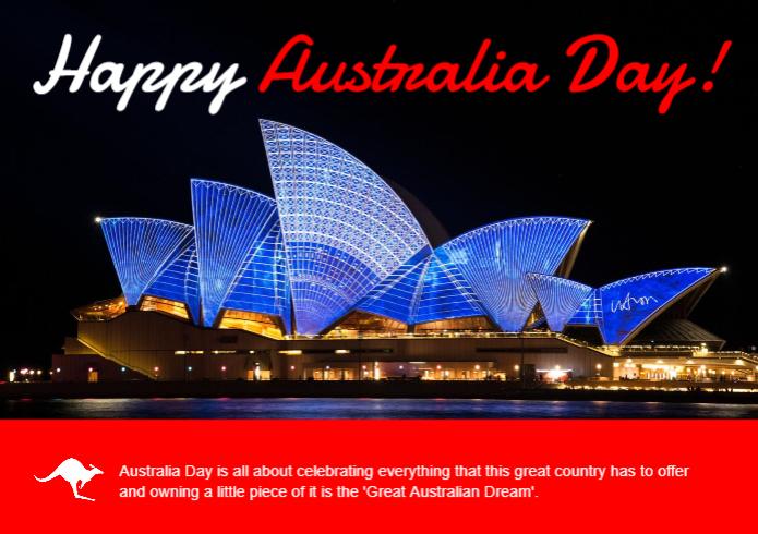 A happy Australia day real estate postcard.