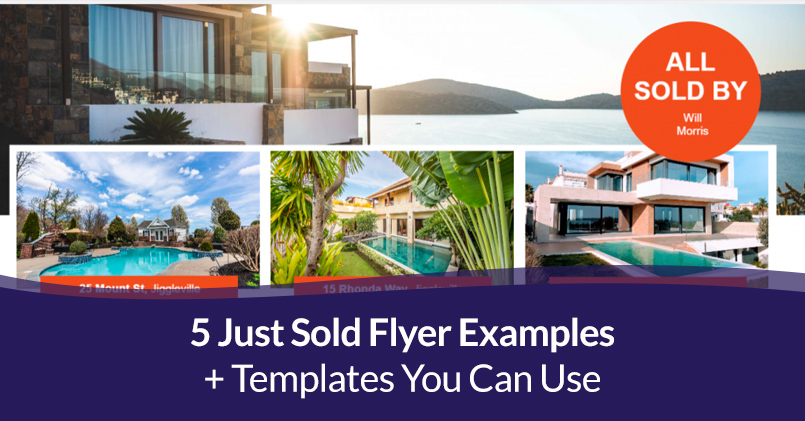 5 Just Sold Flyer Examples + Templates You Can Use