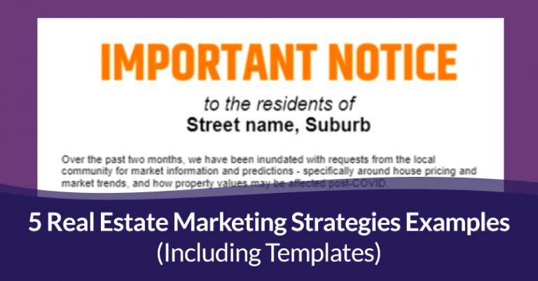 Real estate marketing strategies examples