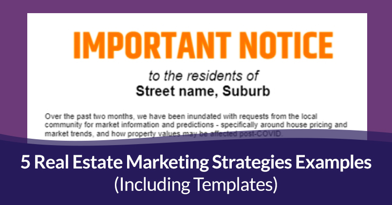 Real estate marketing strategies examples