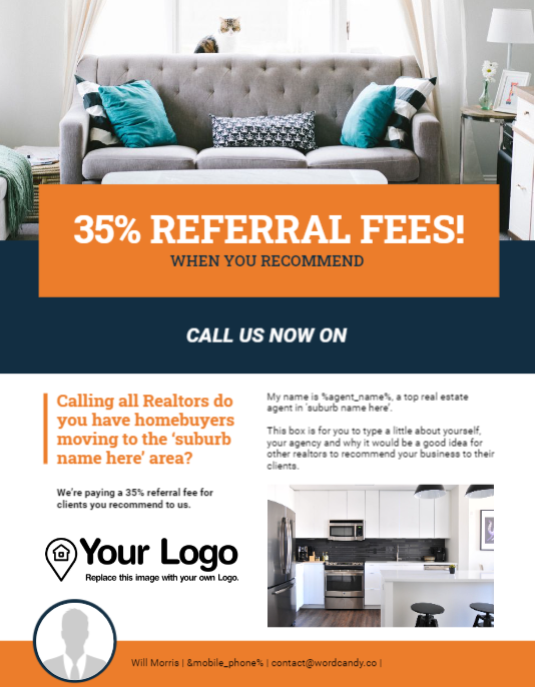 Real estate referrals flyer