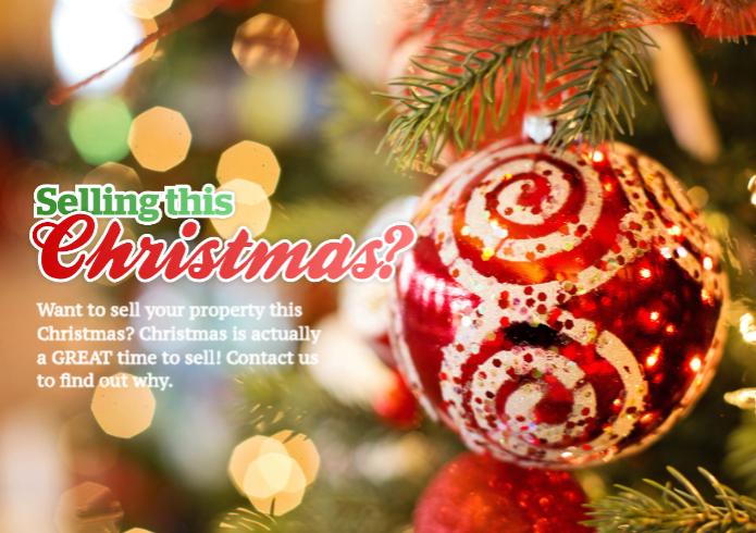 A real estate postcard for Christmas listings.