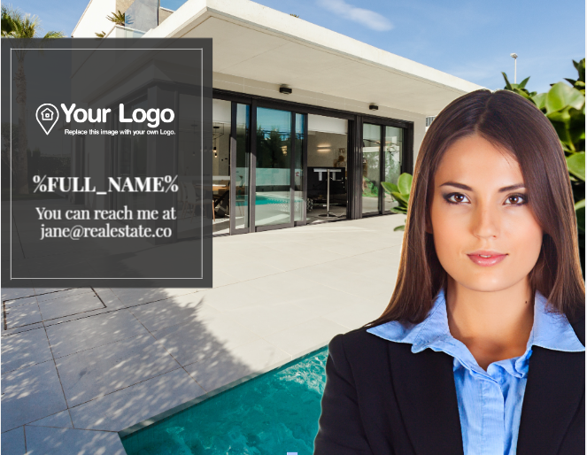 Adding contact information to your real estate agent advertisement