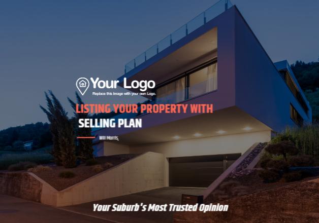 Real estate listing presentation cover