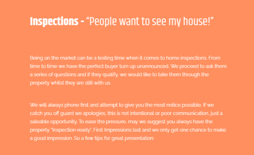 A listing presentation providing advice on how to show off a home on the market