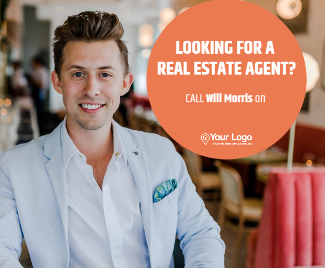 A real estate agent advertisement.