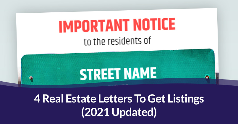 Real Estate Letters To Get Listings