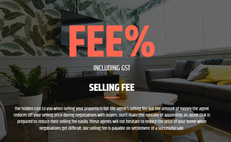 Discussing your real estate selling fee