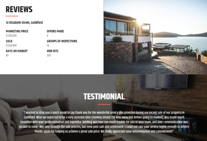 Adding reviews and testimonials to your listing presentation