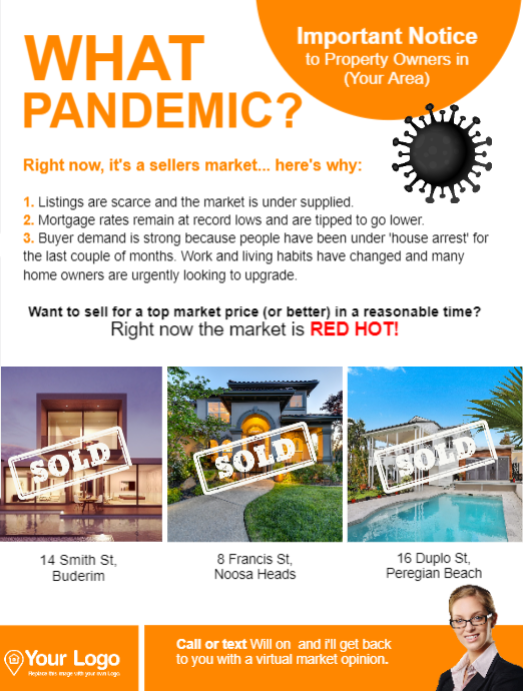 What pandemic postcard