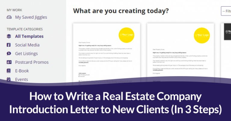 Real Estate Company Introduction Letter to New Clients