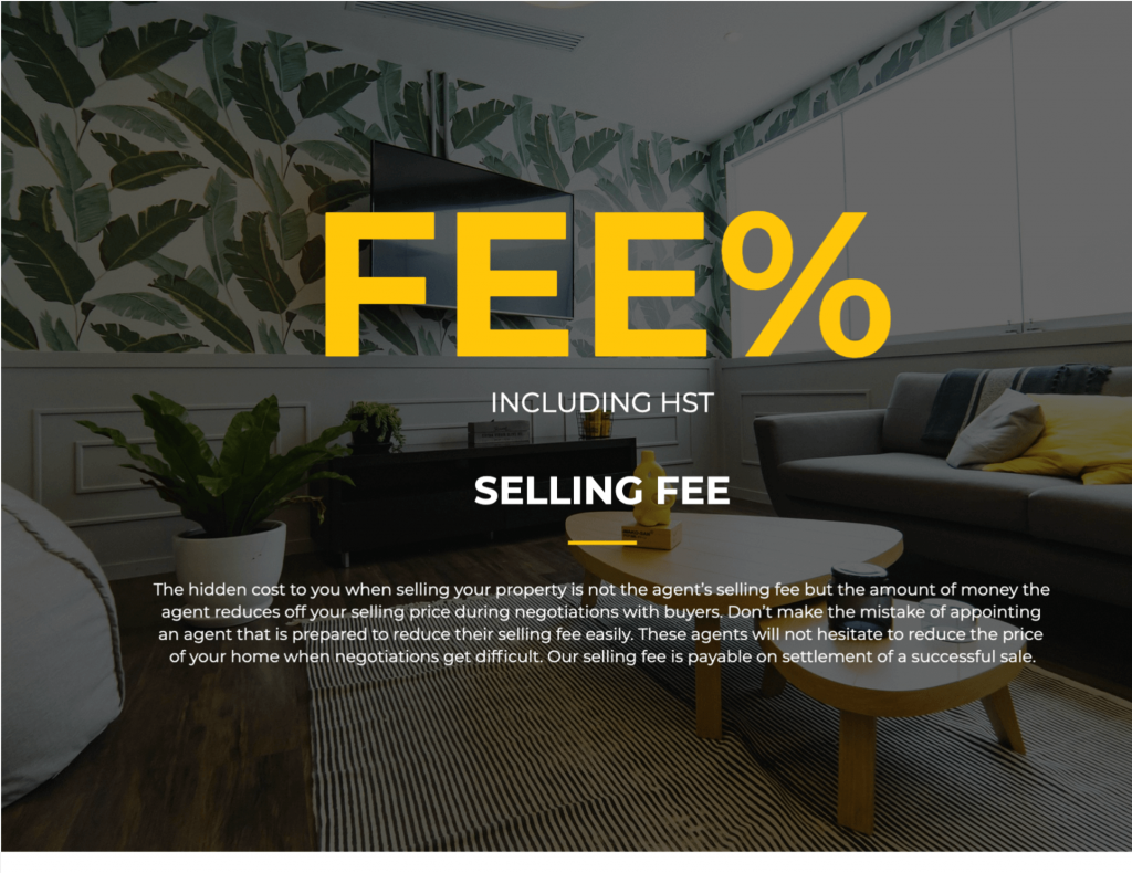 A listing presentation fee disclosure.