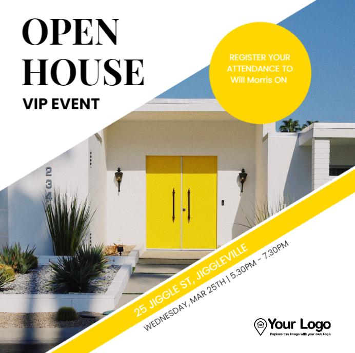 Successful open house ideas