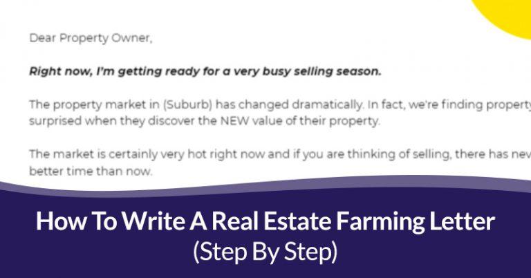 Real Estate Farming Letter