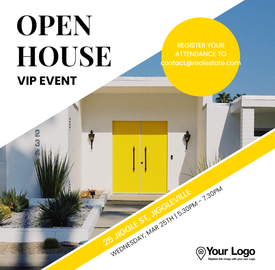 An example of an open house flyer