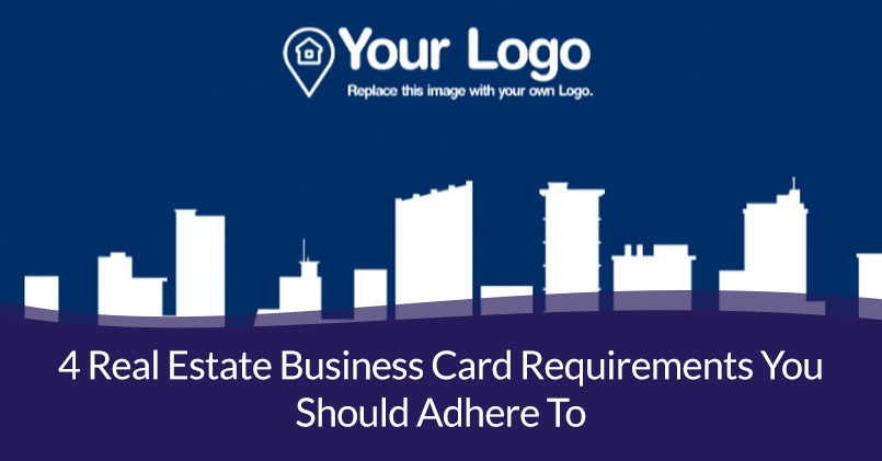 Real Estate Business Card Requirements