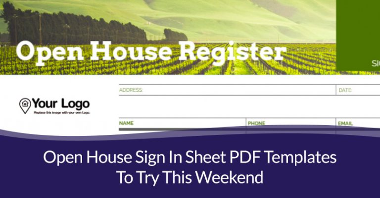 open house sign in sheet pdf