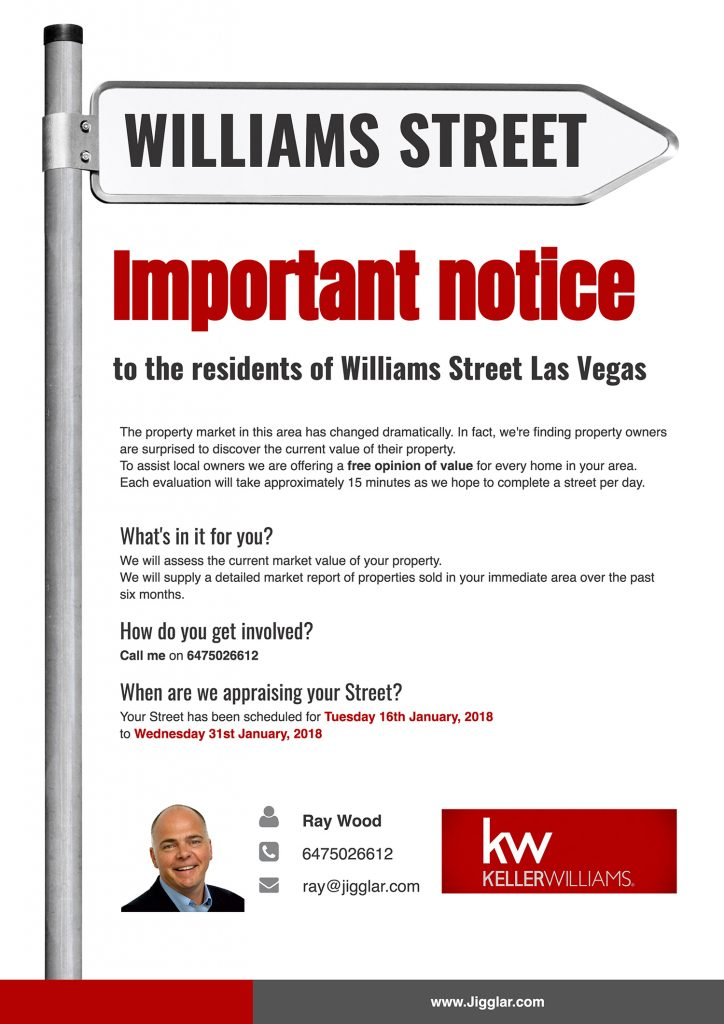 An offer for a real estate valuation for specific streets