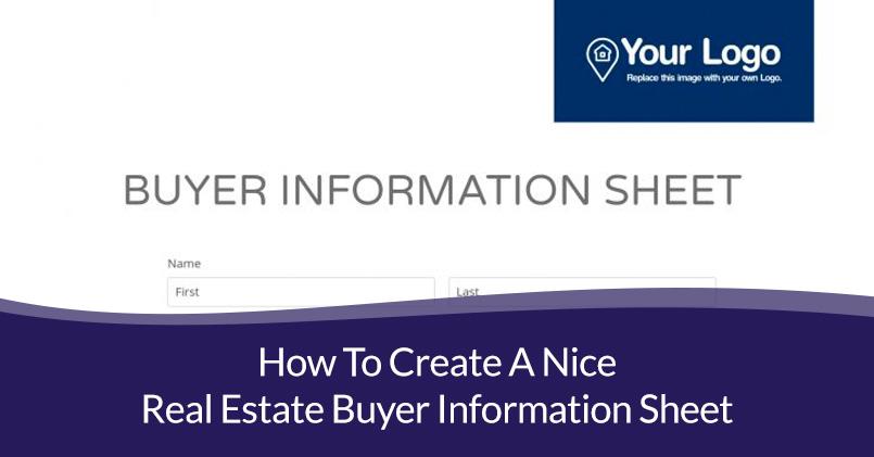 real estate buyer information sheet