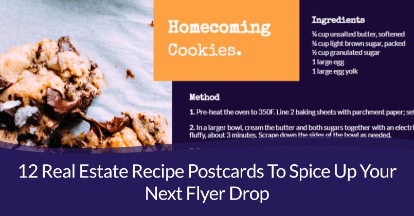 real estate recipe postcards
