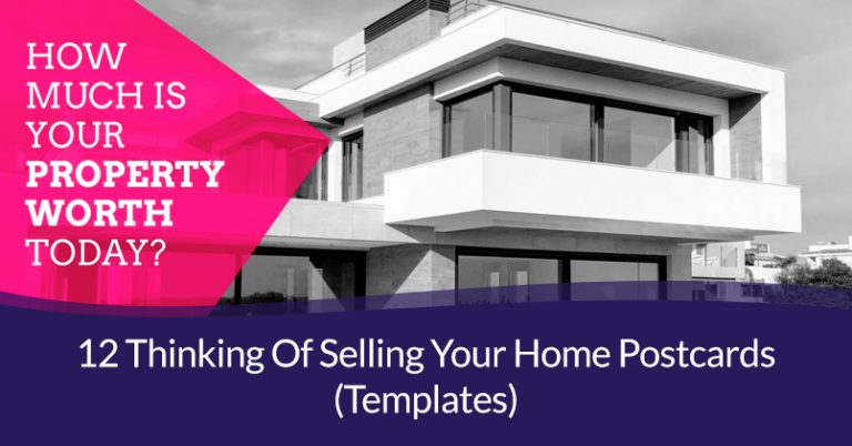 thinking of selling your home postcards